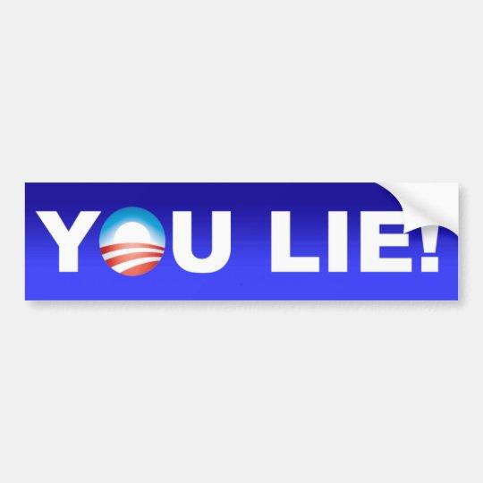 Obama You Lie Bumper Sticker