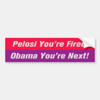 Obama You're Next! Bumper Sticker Car Bumper Sticker