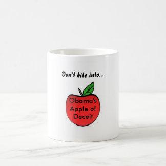 obamaapple, Obama's Apple ofDeceit, Don't bite ... Basic White Mug