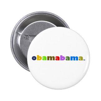 obamabama logo 6 cm round badge