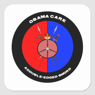 Obamacare A Double-Edged Sword (Swords) Stickers