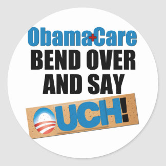 ObamaCare: Bend Over Classic Round Sticker