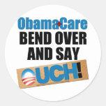 ObamaCare: Bend Over Round Sticker
