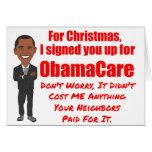 ObamaCare Christmas Gift Card