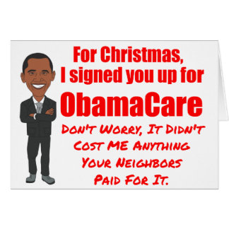ObamaCare Christmas Gift Card