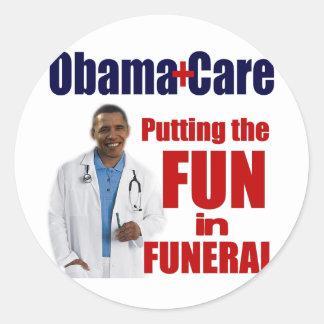 ObamaCare Classic Round Sticker