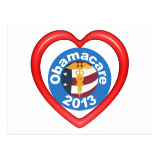 Obamacare Heart Post Card