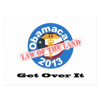 Obamacare Law of the Land Post Card