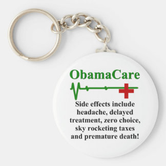 ObamaCare Side Effects Basic Round Button Key Ring