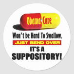 ObamaCare - Suppository Round Stickers