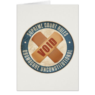 Obamacare Unconstitutional Greeting Card