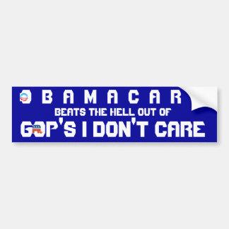 OBAMACARE V. GOP DON'T CARE BUMPER STICKER