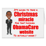 ObamaCare website Christmas miracle Card