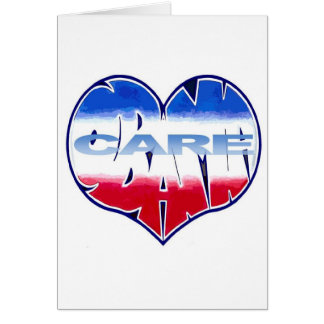 OBAMACARE WORDHEARTS DESIGNS GREETING CARD