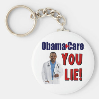 """ObamaCare: """"You Lie!"""" Basic Round Button Key Ring"""