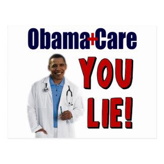 ObamaCare You Lie Postcards