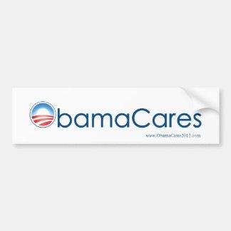 ObamaCares Bumper Sticker (Blue on White)