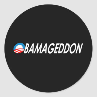 Obamageddon 2 round sticker