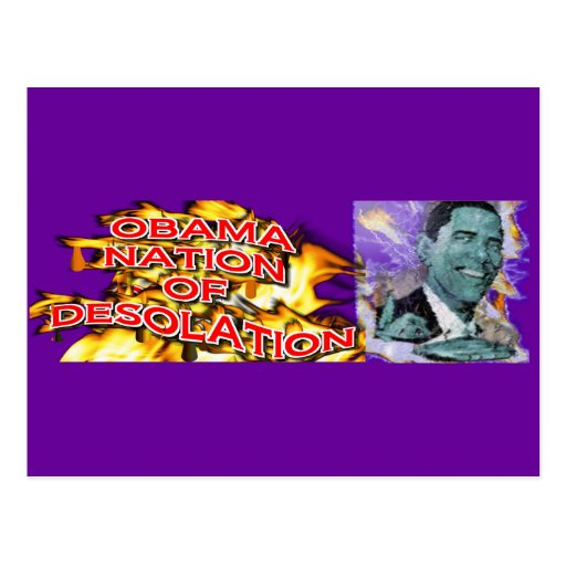 ObamaNation ABOMINATION DESOLATION Post Cards