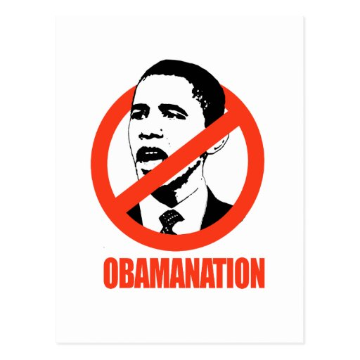 OBAMANATION / ANTI-OBAMA T-SHIRT POST CARDS