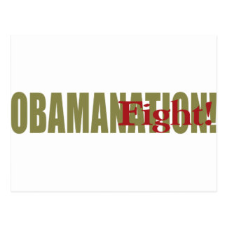 Obamanation Fight Post Cards