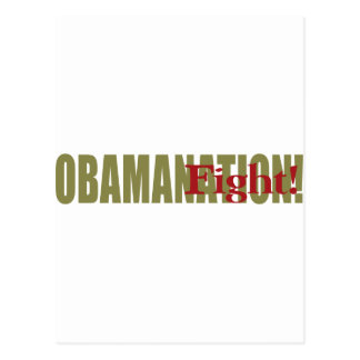 Obamanation Fight! Postcard