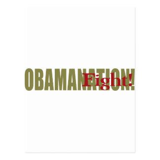 Obamanation Fight! Postcard