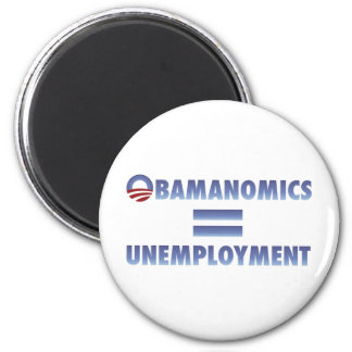 Obamanomics Equals Unemployment Fridge Magnet