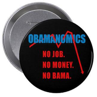 Obamanomics - No job. No money. Nobama 10 Cm Round Badge