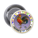 Obama's 1st Term 6 Cm Round Badge