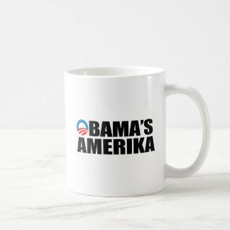 OBAMA'S AMERIKA BASIC WHITE MUG