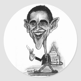 Obama's Caricature Sticker