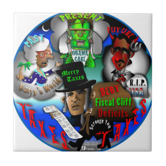 Obama's Ghosts of Christmas Ceramic Tiles