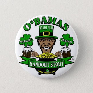 Obama's Irish Pub 4 Your Next Social Party! 6 Cm Round Badge