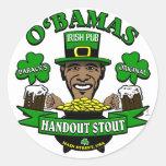 Obama's Irish Pub 4 Your Next Social Party! Stickers