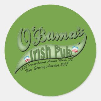 O'bama's Irish Pub Round Sticker