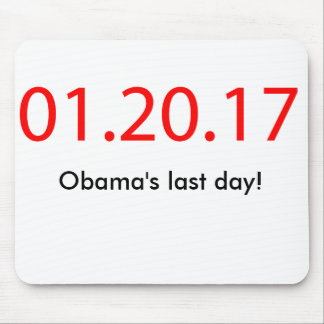 Obama's last day mouse mat