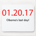 Obama's last day mousepad