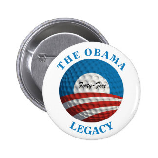 Obama's Legacy Golf Ball 6 Cm Round Badge