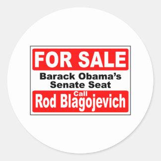 Obama's Senate Seat for Sale Round Sticker