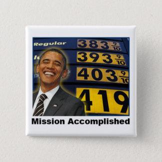 Obama's Skyrocketing Gas Prices 15 Cm Square Badge