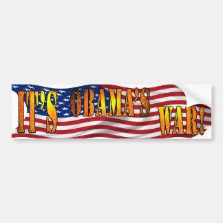 Obamas War Car Bumper Sticker