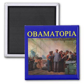 OBAMATOPIA anti obama design Magnet