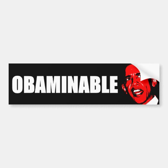 Obaminable Bumper Sticker
