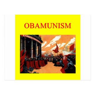 OBAMUNISM anti barack obama design Postcard