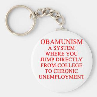 OBAMUNISM anti obama shirt Basic Round Button Key Ring