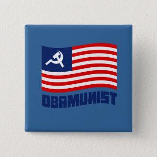 Obamunist Flag 15 Cm Square Badge