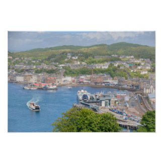 Oban Harbour Aerial from Pulpit Hill Photo Print