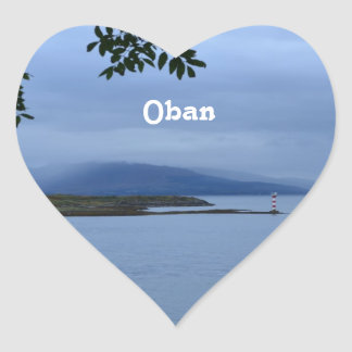 Oban Heart Sticker