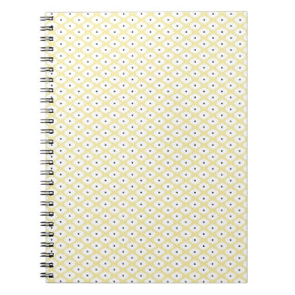 OBB YELLOW WHITE BLUE DOTS DECORATIVE BACKGROUND P NOTE BOOK